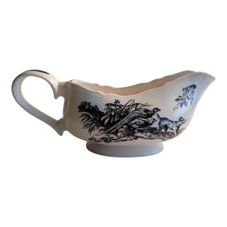 New England Black Game Birds by Tabletop Unlimited Gravy Boat