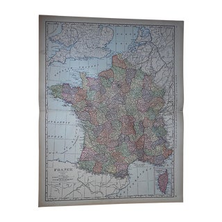 "Antique Map of France-27.5""x21.25"""