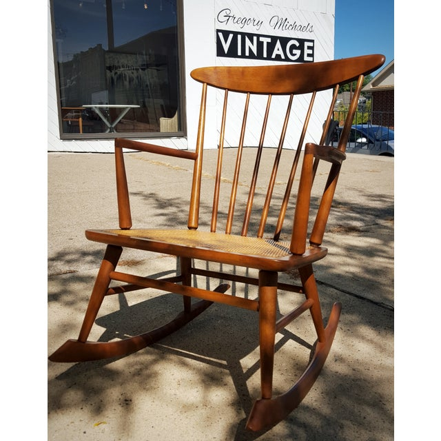 Mid-Century Modern Spindle Rocking Chair - Image 2 of 11