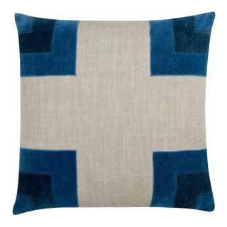"Piper Collection Blue ""Luke"" Pillow"