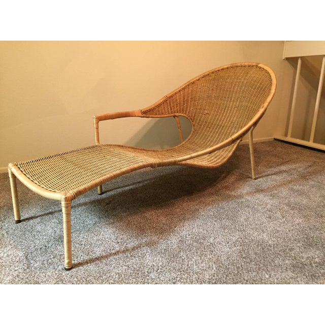 1950s Scarce Francis Mair Mid-Century Modern Rattan Low Slung Lounge Chair - Image 2 of 8