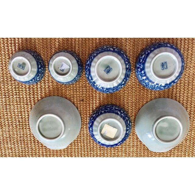 Japanese Blue & White Ceramic Bowls - Set of 10 - Image 7 of 10