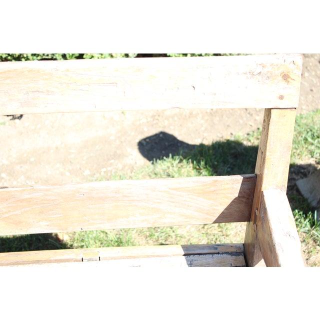Whitewash Wood Patio Bench - Image 3 of 4