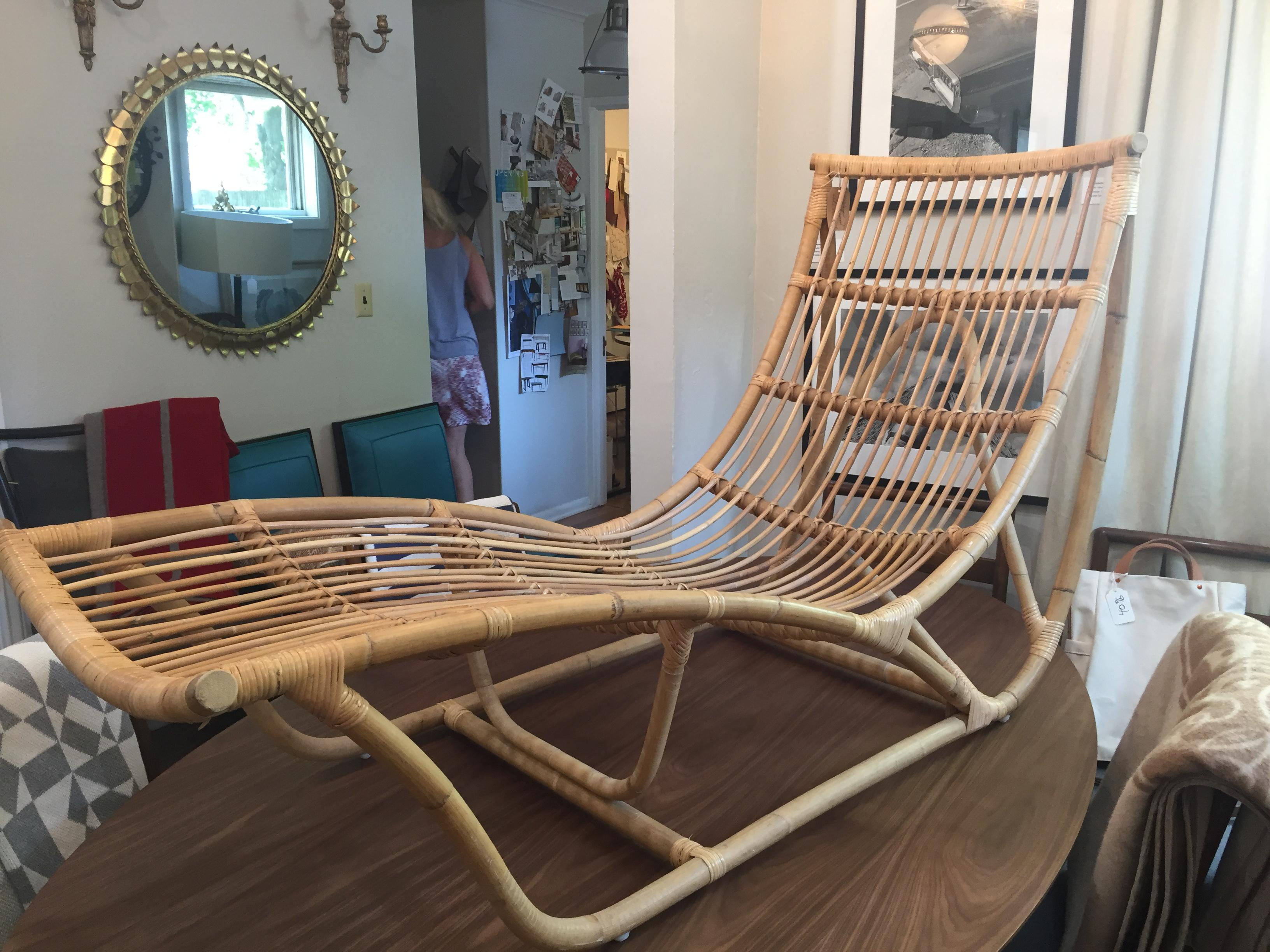 Franco Albini Bamboo Chaise Longue - Image 2 of 6  sc 1 st  Chairish : bamboo chaise lounge - Sectionals, Sofas & Couches