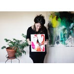 Image of Meredith Bullock Fire Woman Abstract Print