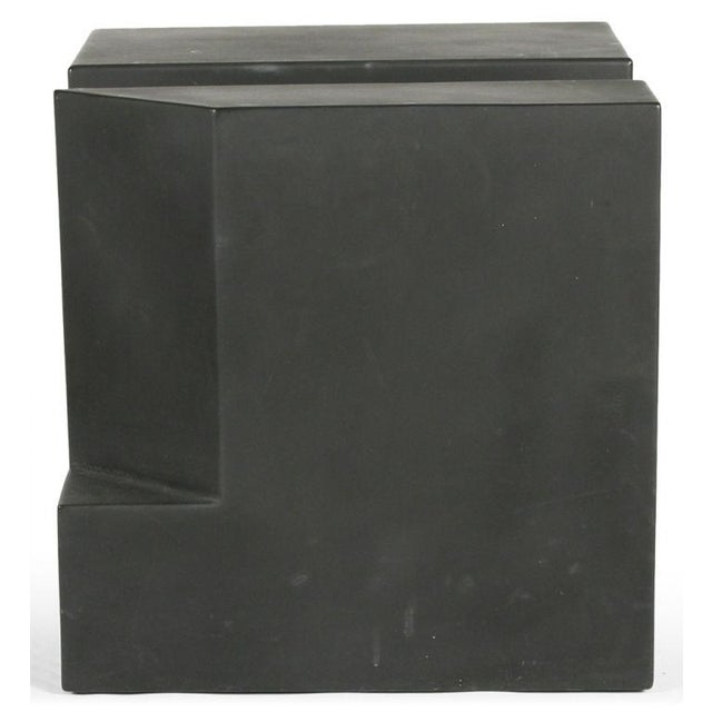 """Black Cube"" Aluminum Sculpture by Alfredo Halegua - Image 6 of 10"
