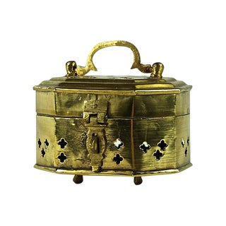 Indian Brass Cricket Box