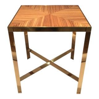 Karl Springer Zebrawood Side Table