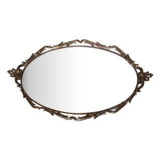 Rococo Brass Mirror Vanity Tray