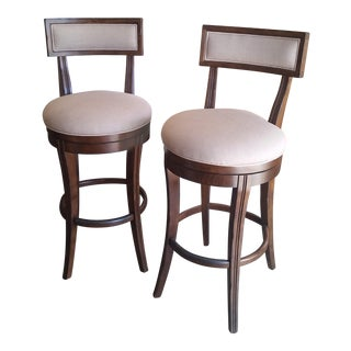 Caracole Hi-Ho-Hi Dark Swivel Bar Stools - A Pair