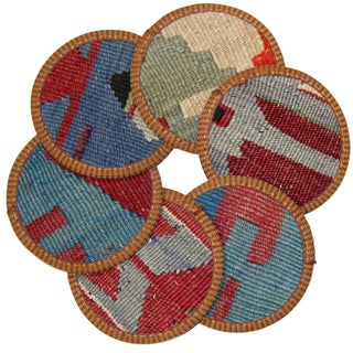 Kilim Aksaray Coasters - Set of 6