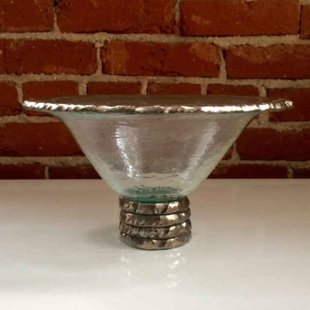 "Annieglass ""Edgey"" Glass Trophy Bowl - Image 4 of 8"