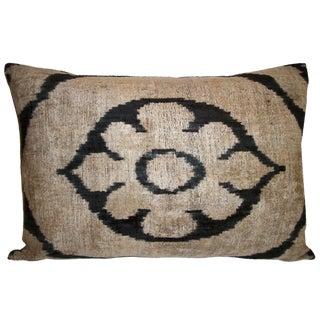 Allary Silk Velvet Ikat Pillow