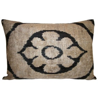 Allary Silk Velvet Ikat Pillow