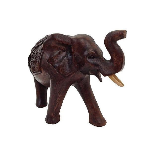 Image of Indonesian Hand-Carved Elephant