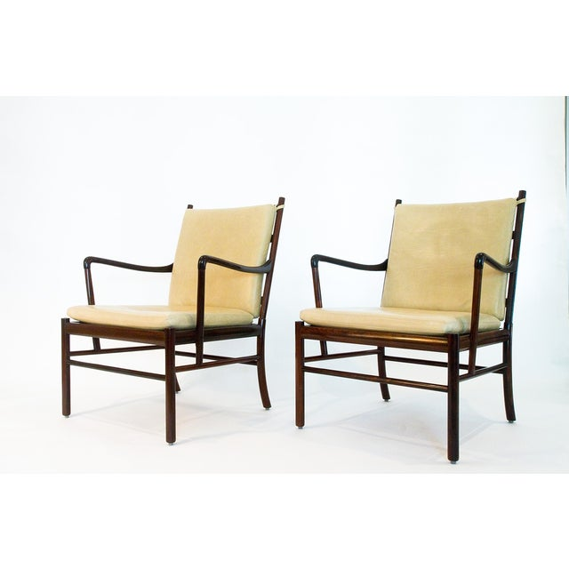Image of Borge Mogenson Rosewood Colonial Chairs - A Pair