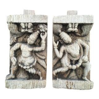 Thai Temple Carvings - A Pair
