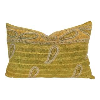 Vintage Kantha Quilt Pillow