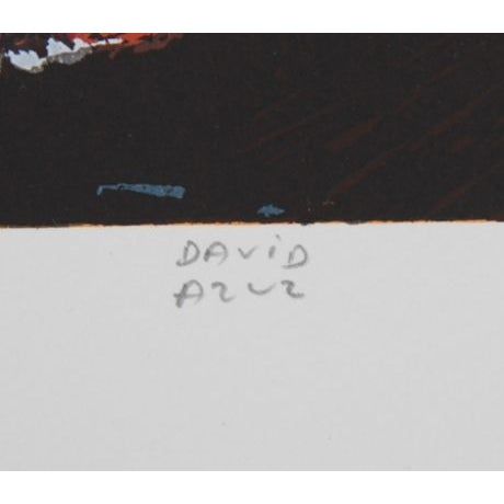 Image of David Azuz - Dome Montparnasse Paris Lithograph