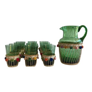 Fiesta Green Glass Beverage Set - Set of 13