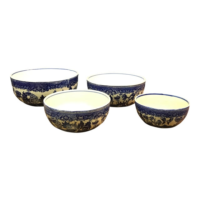 Blue Willow Nesting Bowls - Set of 4 - Image 1 of 6