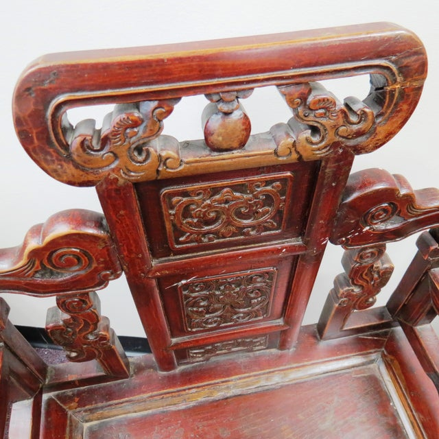 Pair of Chinese Hardwood Armchairs - Image 3 of 9