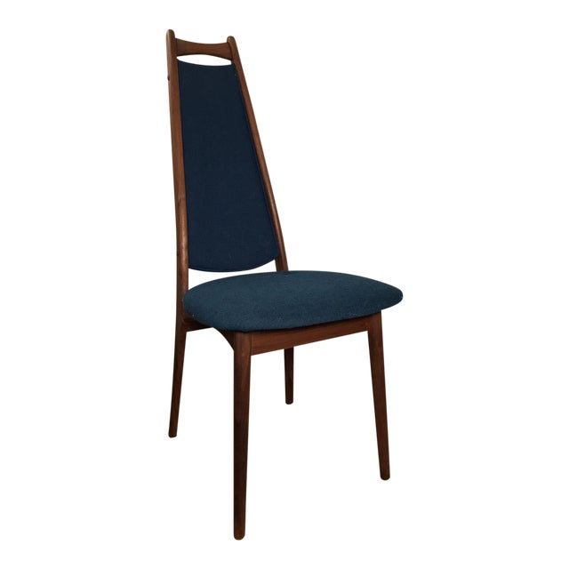 Mid-Century Blue Dining Chair - Image 1 of 6