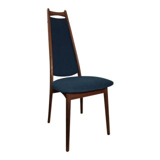 Mid-Century Blue Dining Chair