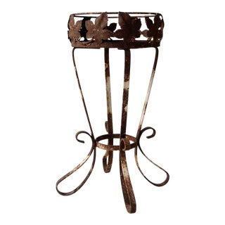 vintage iron plant stand
