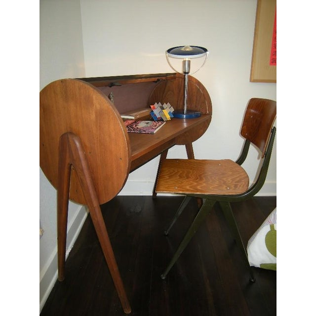 Image of Danish Modern Roll-Top Desk