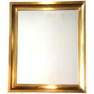 Vintage Mirror With Brass Frame