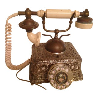 Vintage French Victorian Rotary Dial Phone