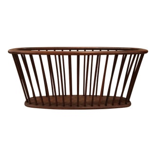 Arthur Umanoff Wood Spindle Magazine Rack