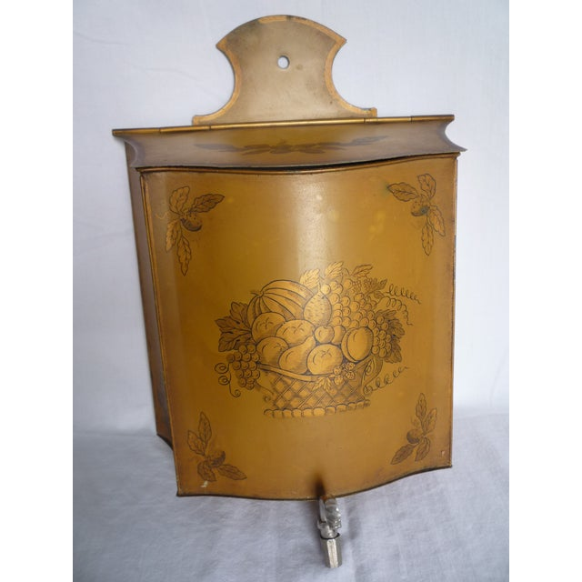 Vintage French Tole Painted Lavabo - Image 2 of 6