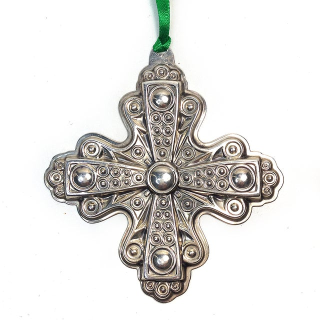 Image of Reed & Barton Vintage 1972 Sterling Cross Ornament