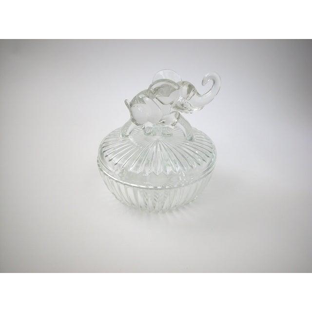 Glass Lidded Elephant Bowl - Image 3 of 7