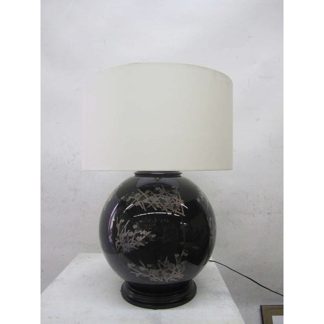 Midcentury Glass Japanese Style Table Lamps - Pair - Image 3 of 6
