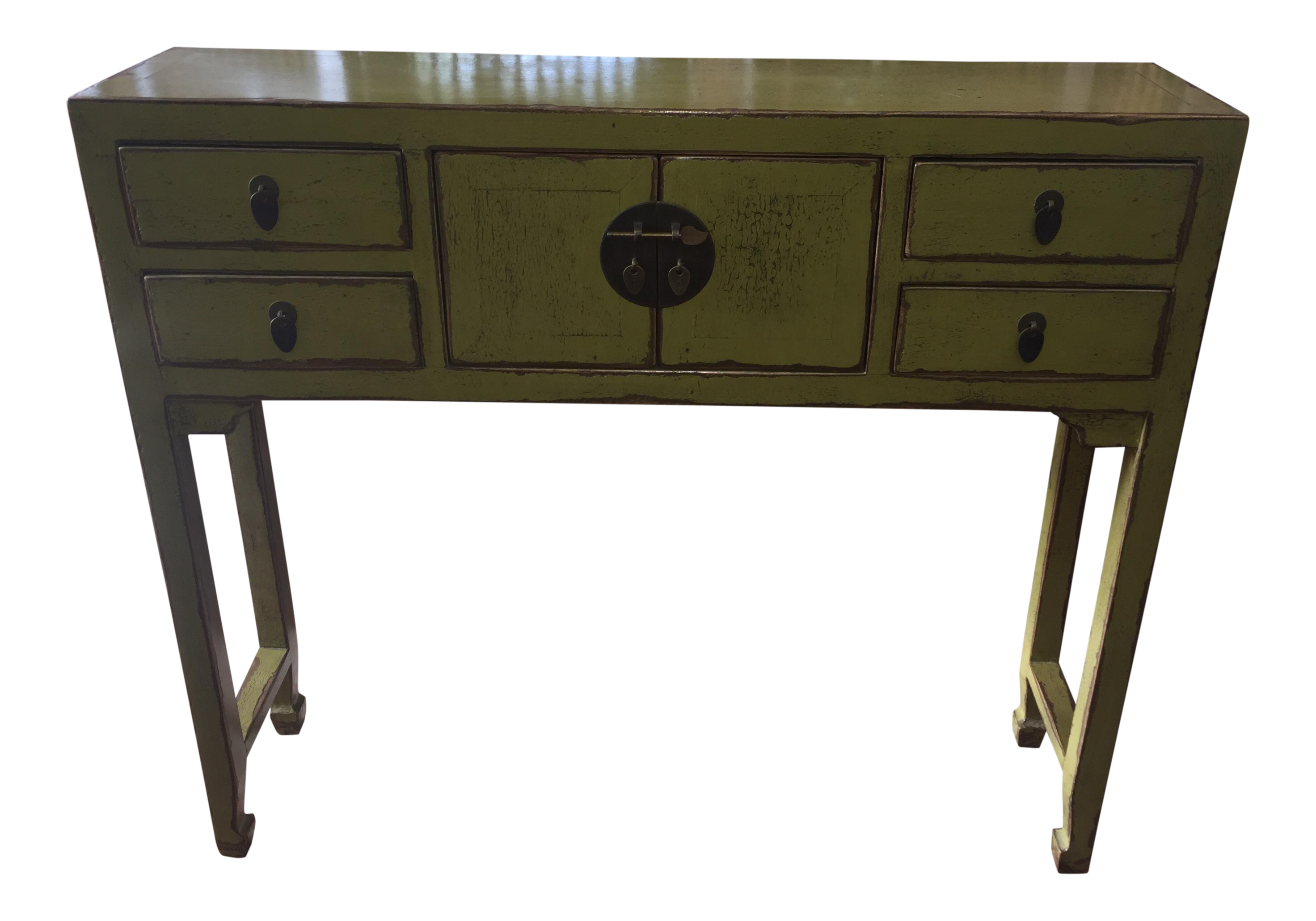 Green Asian Console Table