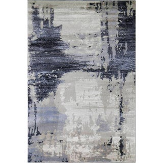 Abstract Brown Rug - 4'x5'8''