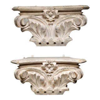 Turn-of-the-Century Bank Columns - A Pair