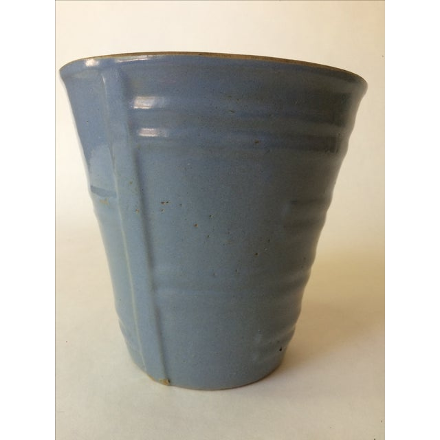Machine Age Blue-Grey Flower Pot - Image 5 of 11