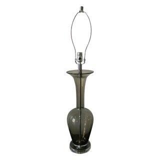 Smoke Clear Glass Lamp