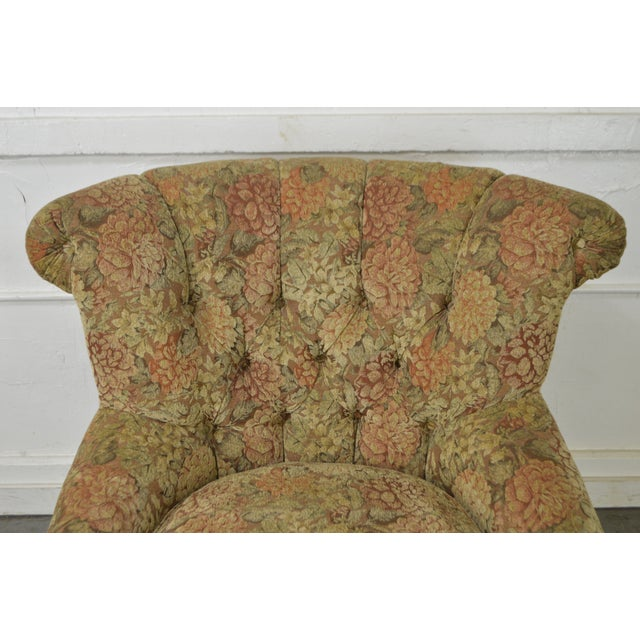 Schnadig Compositions French Louis XV Style Tufted Bergere Lounge Chair - Image 5 of 10