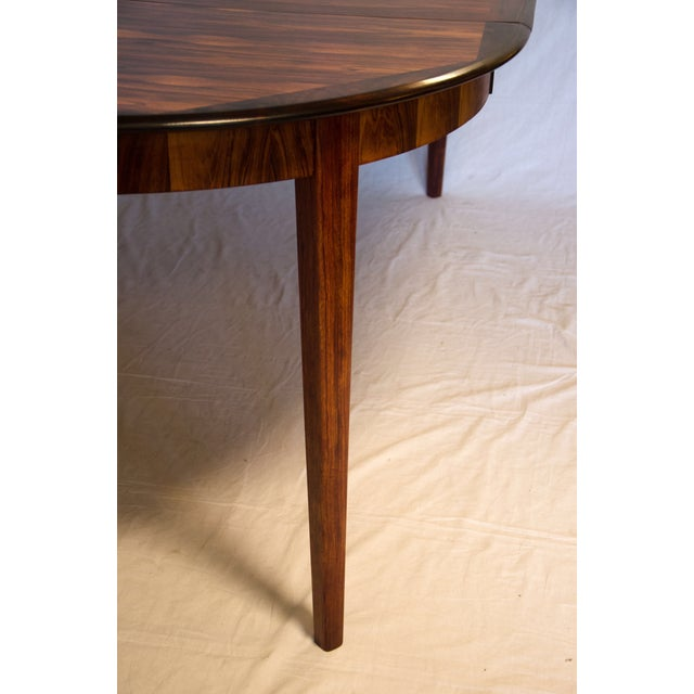 Danish Round Rosewood Dining Table by Moller - Image 4 of 7