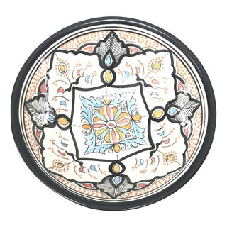 Moroccan Hand-Painted Medium Ceramic Bowl