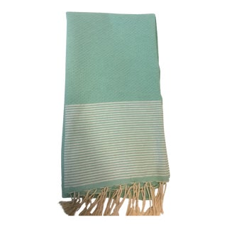 Green Striped Tunisia Fouta Towel