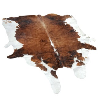 Brazillian Mahogany and Chestnut Cow Hide Rug