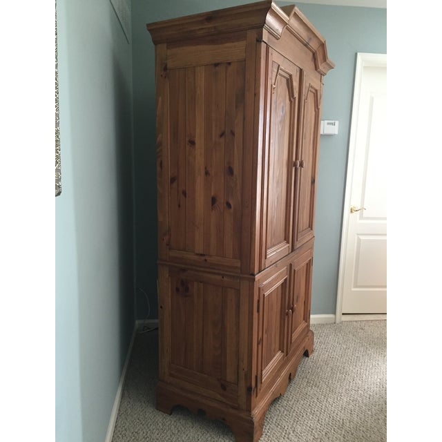 Ethan Allen Wooden Armoire - Image 3 of 10