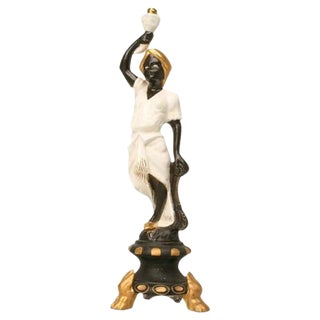 Vintage French Blackamoor Torchiere Lamp