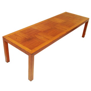 Mid-Century Parquetry Coffee Table by Lane